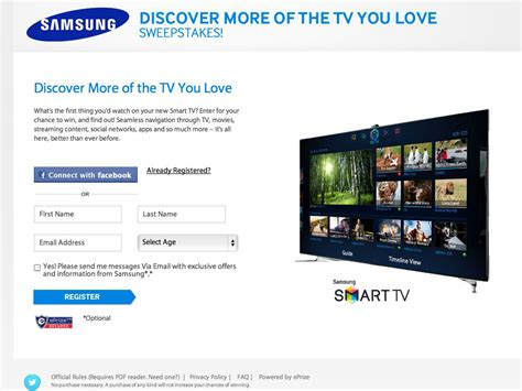 Samsung Tv Giveaway - samsung smart tv sweepstakes