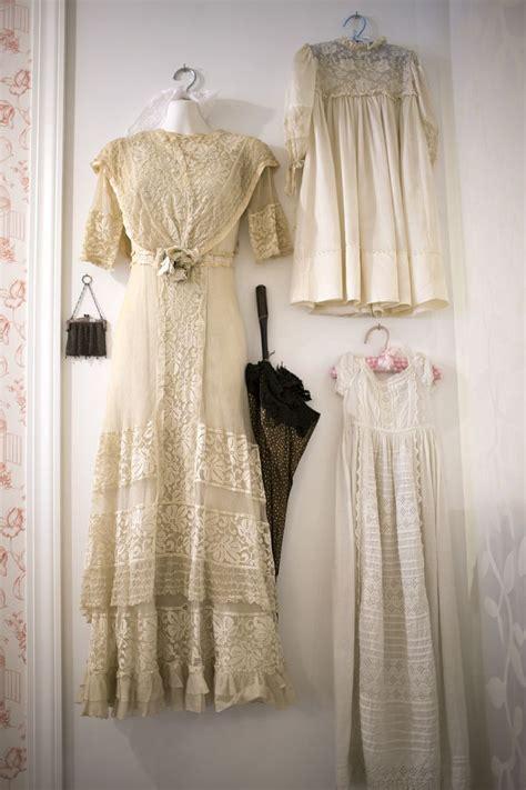Edwardian Lace Wedding Dress, Victorian Parasol, Early