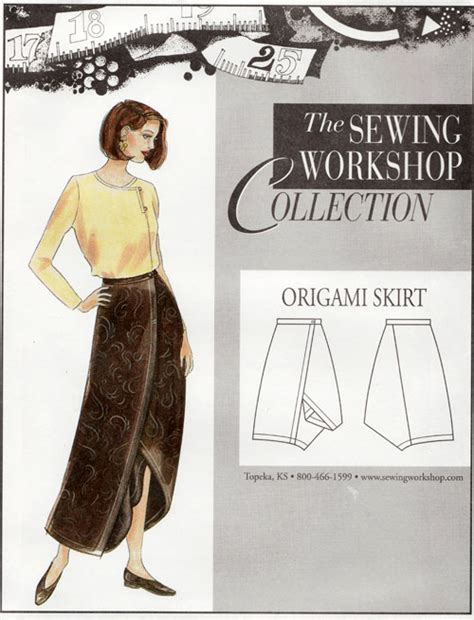 pattern review origami skirt origami skirt pattern from the sewing workshop