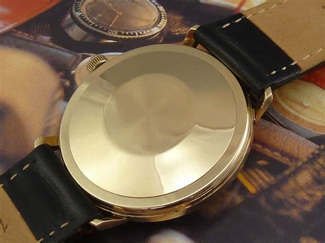 Longines Leather Silver Matic by Eterna Matic 1000 9ct Gold C 1972 Secondhand And Vintage