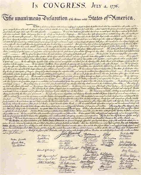 from the archives the declaration of independence in