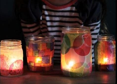 How To Make Beautiful Paper Lanterns - how to make beautiful tissue paper jar lanterns tinting