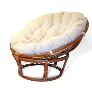 Class a handmade rattan wicker round papasan chair w cushion ebay