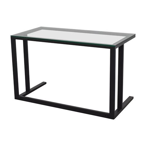 crate and barrel desk 70 off crate and barrel crate barrel glass desk tables
