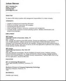 Sample Systems Analyst Resume Sample Resume Format February 2016
