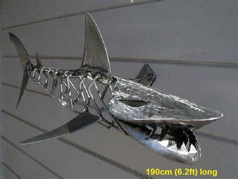 baby shark metal metal animal art garden sculptures dragon dinosaur