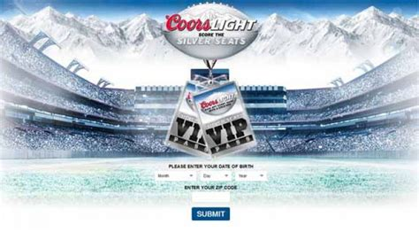 coors light pit coorslight com kickoff coors light the silver