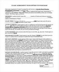 lease to own template rent to own home contract 6 exles in word pdf