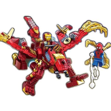 Minifigure Iron Lego Model ironman hulkbuster robot car minifigure lego compatible