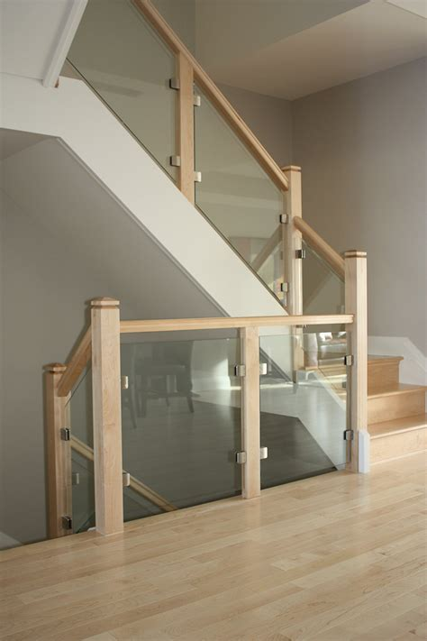 glass banisters glass panels ottawa classic stairs