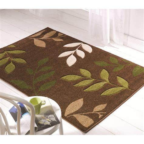 brown and green rug brown green leaves orleans rug carpet runners uk