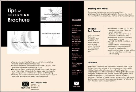 single page brochure template sle templates