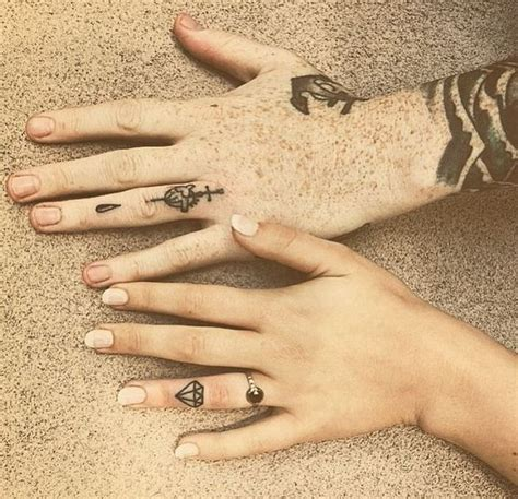 diamond tattoo couple 175 best couples tattoos images on pinterest ring finger