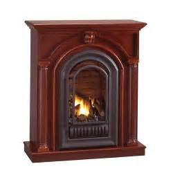 gas propane fireplace florence mid height wall mantel with arched ventless