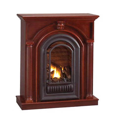 Ventless Fireplace by Florence Mid Height Wall Mantel With Arched Ventless