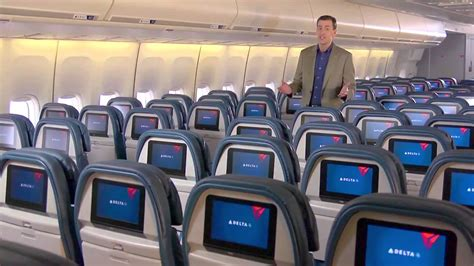 Delta Airlines Interior by Delta Airlines On Board Cabin Tour