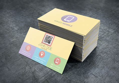 Flat Design Business Card Template by Css 2014 100 Free Business Cards Psd