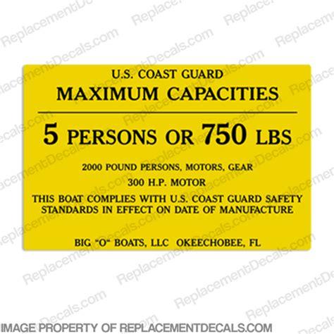 big boat decals boat capacity decals
