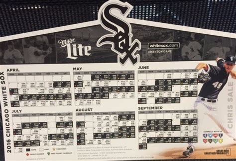 april 8 2016 chicago white sox 2016 magnetic schedule