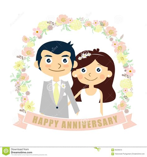 Marriage Anniversary Card Vector by Happy Anniversary Card Wedding Vector Stock