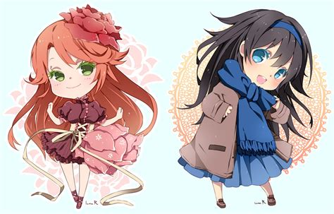 chibi girls 2 a chibi commission batch02 by inma on