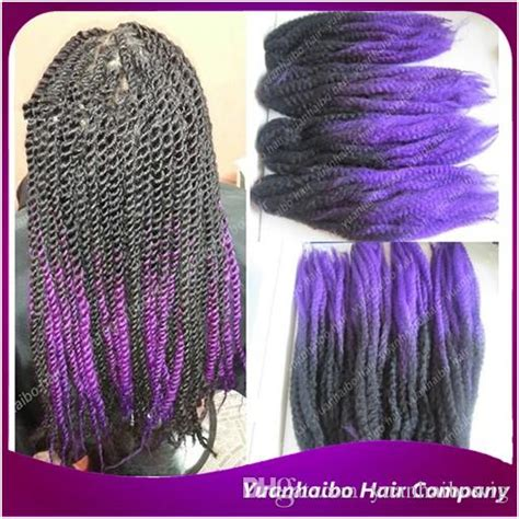 purple ombre marley hair stock synthetic braiding 20 black purple kanekalon