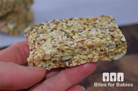 Healthy Seed Bar chewy sesame seed bars recipe bitesforbabies