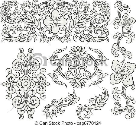 dekor muster eps vektor blumen dekorativ rolle muster blumen