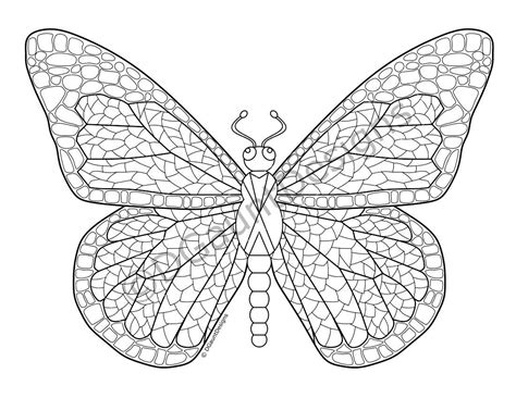 mosaic butterfly coloring pages mosaic butterfly digital adult coloring page
