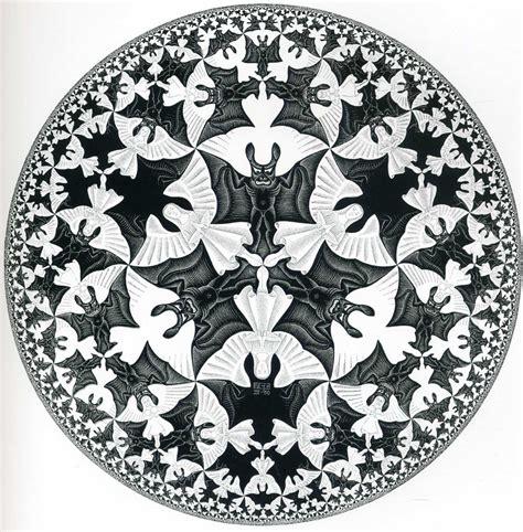 m pattern in c bat plate pattern optical illusion m c escher art