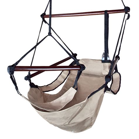 Patio Hammock Chair Beige Deluxe Air Hammock Swing Chair Patio Tree Hanging Sky Outdoor Porch Lounge Ebay