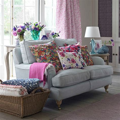 grey and pink sofa decorating with country colours housetohome co uk