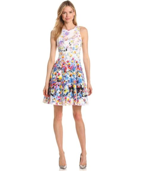 summer dresses 2013 for 65 yrs cute floral fit flare summer dress 2013
