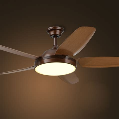 Dining Room Ceiling Fans Industrial Ceiling Fan L American Dining Room Led Fan Light Simple European Style Wood Fan