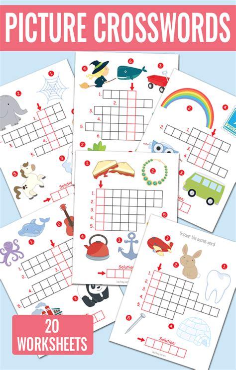 easy crossword puzzles for kindergarten picture crossword puzzles kindergarten and grade 1