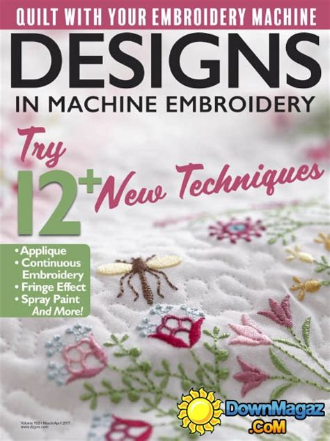design magazine embroidery designs in machine embroidery 03 04 2017 187 download pdf