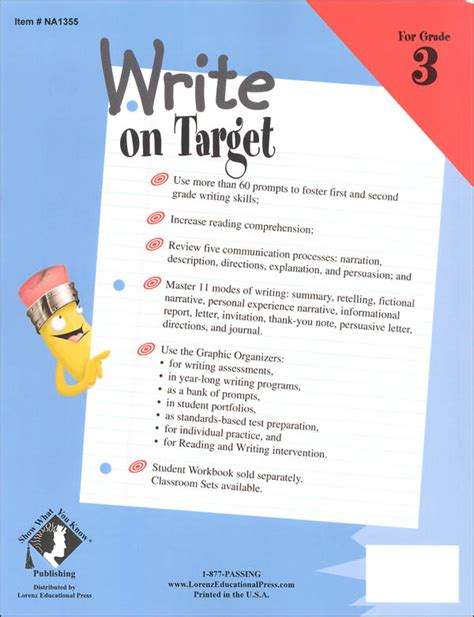 libro target grade 3 writing write on target grade 3 student workbook 010014 details rainbow resource center inc