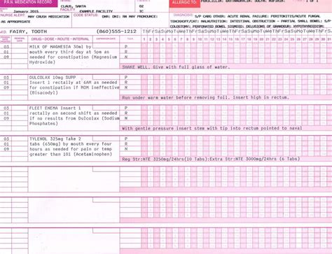 mar template nursing mar s tar s prn sheets search nursing