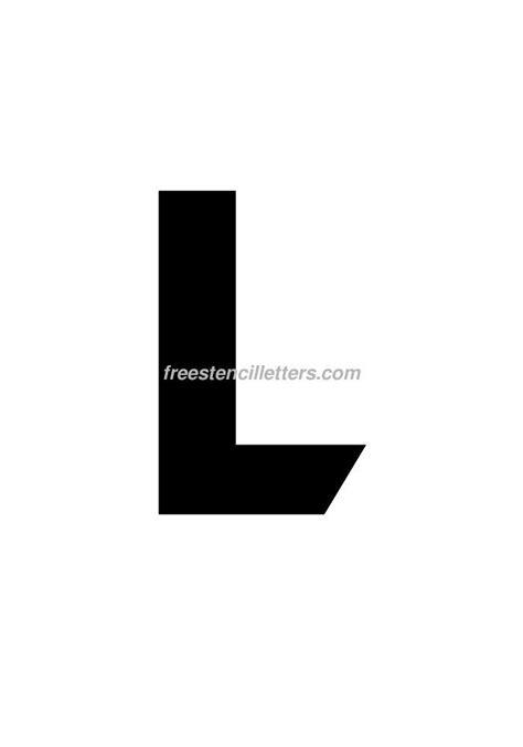 printable 9 inch letter stencils print 9 inch l letter stencil free stencil letters