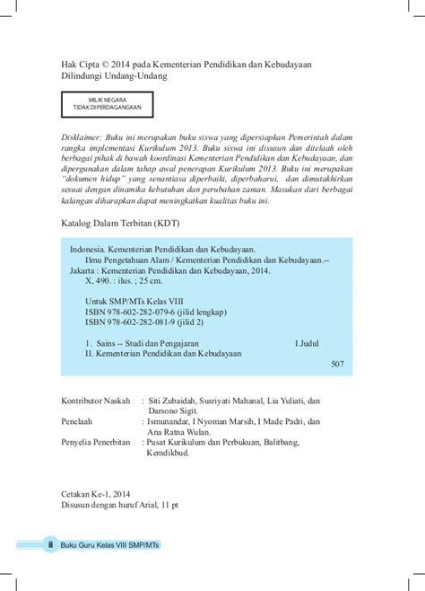 Buku Ulangan Smp Kelas Viii ipa smp kelas 8 buku guru kurikulum 2013