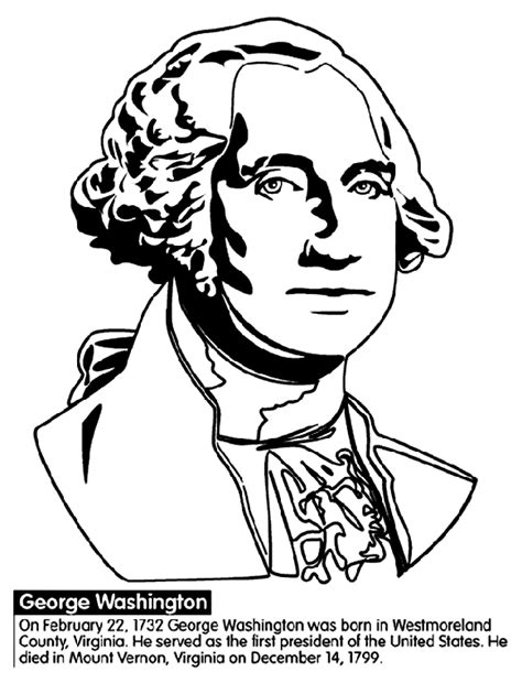 U S President George Washington Crayola Com Au Coloring Pages George Washington