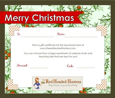 printable christmas certificates best photos of printable christmas gift vouchers blank