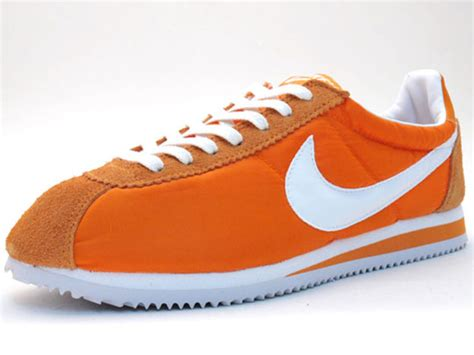 nike classic cortez nylon icons white black orange