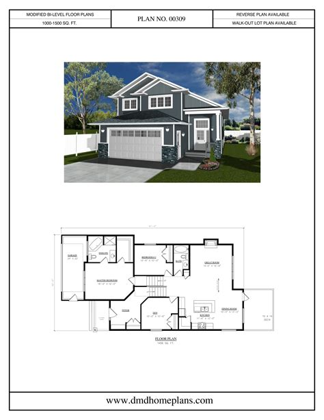 modified bi level homes floor plans