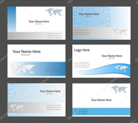 business card templates stock vector 169 cobalt88 2010019