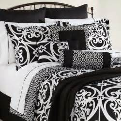 Comforters At Sears 16 Piece Bed Set King Size Black White Damask Comforter