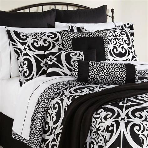king size black and white comforter 16 piece bed set king size black white damask comforter
