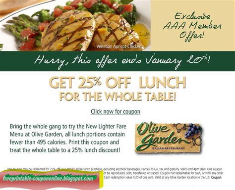 olive garden coupon discount code printable coupons 2018 olive garden coupons