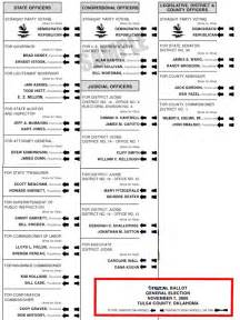 2006 oklahoma sample ballot