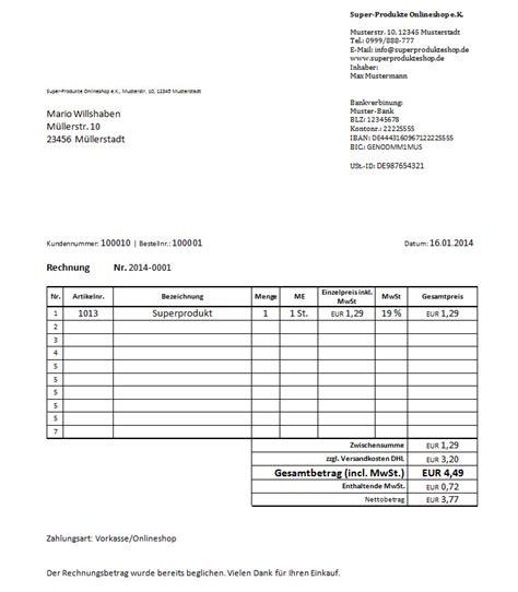 Muster Ordentliche Rechnung Buchhaltungssoftware F 252 R Onlineh 228 Ndler Auswahl Vergleich Und Kosten